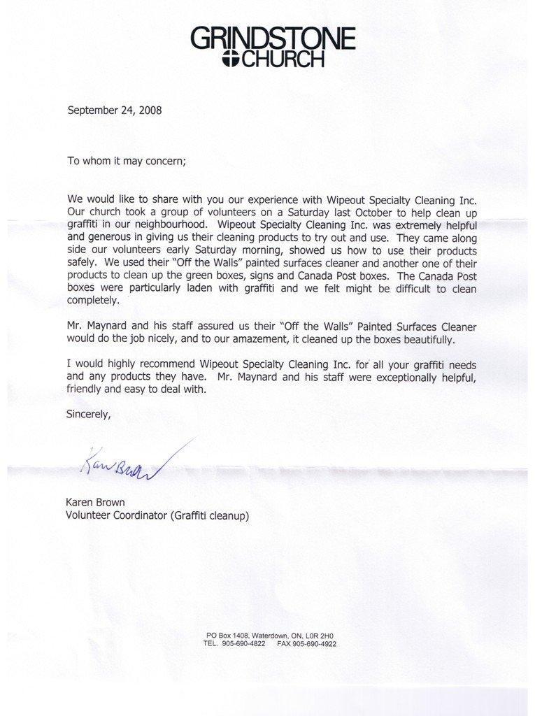 Community Endorsement Letter