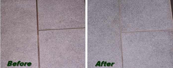 Grout cleaned with Grime Master